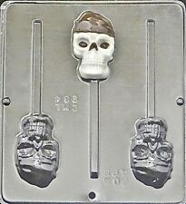 Pirate Skull Lollipop Choc. Candy Mold Pirate's of the Caribbean Theme 964 NEW
