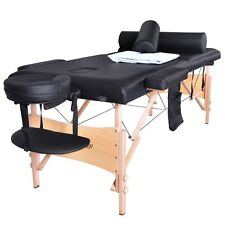 Massage Table Portable Facial SPA Bed W/Sheet+Cradle Cover+2 Bolster+Hanger TSF2