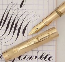 WAHL GOLDFILL PEN 1920s, BIG 4 SIZE, EXTRA-FLEXIBLE COPPERPLATE NIB, F TO 2.5MM
