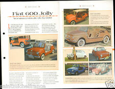 Fiat 600 Jolly Golf Beach Loisir Italia Italy Italie Car Auto Retro FICHE FRANCE