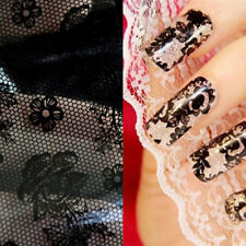 Beauty 1 Roll Foil Stickers Black Lace Floral Flower DIY Nail Art Manicure Tool