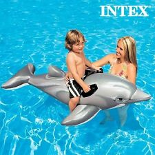 Dolphin Float Raft Inflatable Swim Pool Beach Toy Ride On Blow Up Flipper Raft