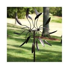 Garden Stake Wind Spinner Outdoor Yard Lawn Patio Art Ornament Metal Home Decor