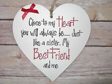 Friendship Sign Best Friend Plaque Gift Shabby Chic Thank You  Heart Gift