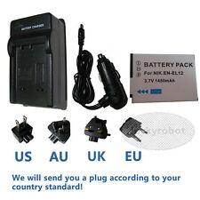 battery+charger for Nikon EN-EL12 COOLPIX S9400 S800C S1200pj S8000 S8100 S9500