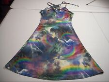Mise en Scene Womens Small Lightning/Storm/Rainbow Keyhole Sundress Dress