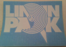 LINKIN PARK White Target Block Logo RUB-ON car window STICKER NEW OFFICIAL MERCH