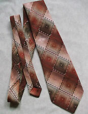 VINTAGE 1960'S 1970'S WIDE TIE MENS NECKTIE PAUL GRECO SHIMMERY RED BROWN RETRO