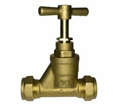 Brass 15mm Stopcock Valve | 15mm Copper x 15mm Copper