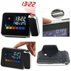Digital Weather Temperature Humidity Wall Projector Snooze Alarm Clock LED Laser