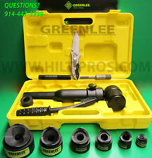 "GREENLEE KNOCKOUT PUNCH SET 2""-1/2"" W/ ROTARY PUNCH DRIVER, BRAND NEW, FAST SHIP"