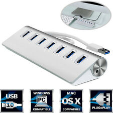 7 Porte Alluminio USB 3.0 Hub High-Speed Per Apple Macbook Pro Mac PC Laptop HOT