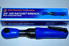"""Astro Pneumatic 3/8"""" Air Ratchet Wrench with Blue Rubber Sleeve 50 Ft lbs AP1139"""