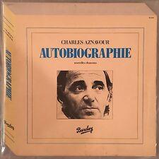 CHARLES AZNAVOUR - Autobiographie (Vinyl LP) FRANCE - Barclay 96-108