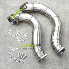 "3"" Stainless Steel Catless Downpipes for 2007-11 BMW 135i 335i N54 b30 Down pipe"