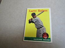 EX   1958 TOPPS 2 CARD LOT - 2343 LARRY RAINE-,INDIANS AND 330 ED BAILEY -REDS