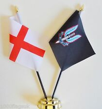 England & Special Air Service SAS Black Double Friendship Table Flag Set