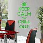 Keep Calm and Chill Out VINYL WALL ART ROOM STICKER DECAL