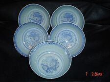 """Authentic Chinese Dragon And Rice Set Of 5 Small Bowls 4.5"""""""