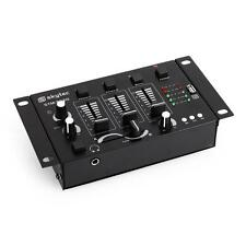 COMPACT DJ MIXER 2 CH MIXING CONSOLE MP3 USB MIC IN STEREO MONO HEADPHONE INPUT