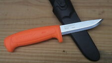 Mora 511 Fixed Blade Knife NEW Orange Carbon Steel Camping Hunting Survival