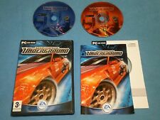NEED FOR SPEED UNDERGROUND   game for PC CD-ROM *Complete*Windows XP ME 2000 98