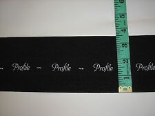"5 yard Piece of Black ""Profile"" 3.5"" Wide Waistband Elastic"