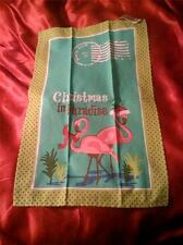 PINK FLAMINGO  CHRISTMAS in PARADISE  KITCHEN TOWEL