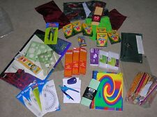 Huge School Supply Lot ~ Compasses, Crayons, Protractors, Book Covers
