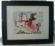 Lady on a Horse XII, Picasso's 1961 Ltd. Ed. Museum Glass/Acid Free Framed Litho