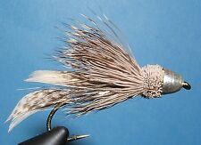 Muddler Minnow - Cone head - Silver- 12 flies-#6-12