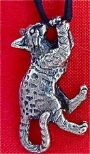Bengal Kitty Cat Sterling Silver Custom Lifelike Kitten Pendant Necklace Fazio