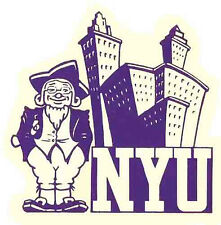 NYU    New York University   (College)  Vintage-Looking   Travel Decal  Sticker