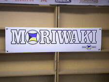 Moriwaki Engineering workshop  garage banner, Kawasaki Z1R, Honda MD250H, CBR
