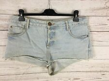 Womens River Island Denim Hot pants/Shorts - UK14 - Faded Navy - Great Condition