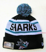 San Jose Sharks Biggest Fan Redux Knit Beanie Cap Hat by New Era