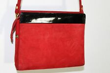 Holf Renfrew Authentic Vintage - Red Genuine Suede Leather - Cross Body Bag