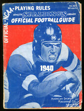 1940 Spalding's Official NCAA Football Guide
