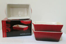 Mayfair & Jackson Set of 4  Mini Red Loaf Pans Made from Stoneware 15cmx 9cmx5cm