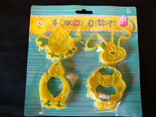 EASTER Cookie Biscuit cutters - **PACK OF 4** Washable & re usable FREE P&P