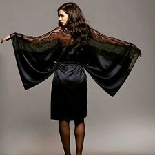 Silk Satin  Kimono Robe Lace  Peignoir Lingerie - NEW