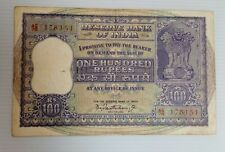 India - 100rs - G23 - Bhattacharya - dam issue  - used note
