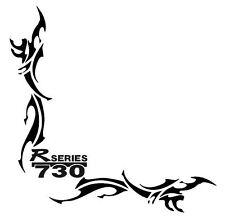"R730 SCANIA SERIE ""R"" Tribal Pegatinas de Ventana Lateral X 2"