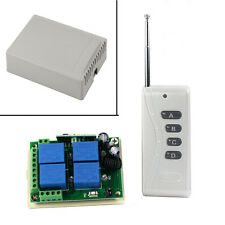 Bianco 12V 10A 4 Canali Wireless Switch Interruttore Con Telecomando 1000M