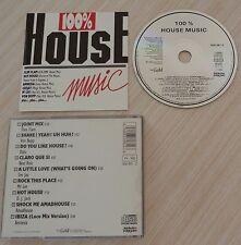 RARE CD (SANS BOITE) COMPILATION 100 % HOUSE MUSIC 9 TITRES 1988