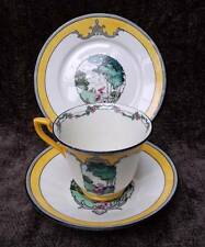 Rare Adderley Ware Watteau Pattern Art DecoTrio,Cup,Saucer & Plate 1930's