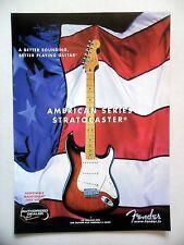 PUBLICITE-ADVERTISING :  Guitare FENDER Stratocaster  03/2001 American Series
