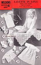 VINTAGE LAYETTE 3ply & 2ply SHAWL - COPY baby knitting pattern