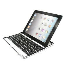 Slim Aluminum Bluetooth3.0 Wireless KeyBoard Stand Case Cover For Apple iPad 2 3