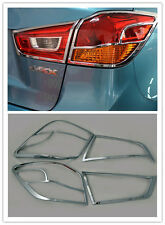 4X Chrome Tail Light Rear Lamp Cover Trim For Mitsubishi ASX 2013 2014 2015